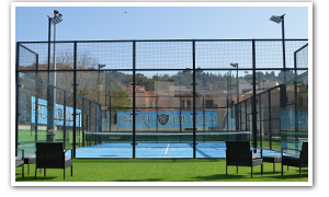 description du terrain 1 de Padel Riviera Mougins