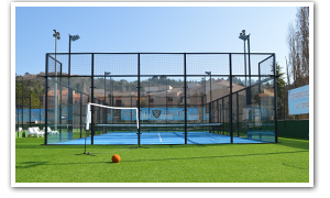 description du terrain 2 de Padel Riviera Mougins